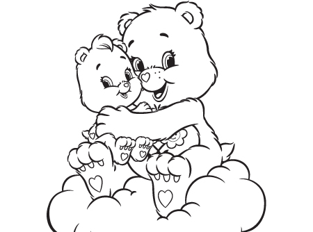 Ausmalbild teddy